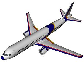 plane 3D model runway