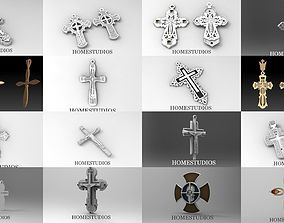 fashion COLLECTION OF DIFFERENT 3D CROSSES