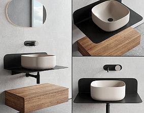 Scarabeo Ceramiche Plana Vanity Unit Set 2 3D asset