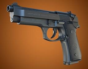 3D model Beretta 92 handgun high
