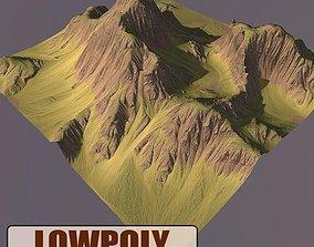 Lowpoly Mountain 3D asset realtime landscape