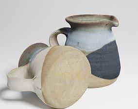 Vintage Ceramic Milk Jug 3d scan interior PBR