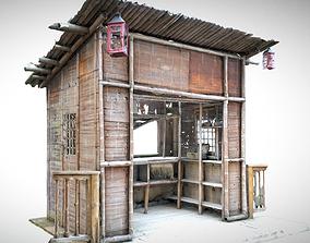 3D model Japanese Bamboo Hut
