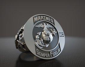 ring 3D printable model Ring Marines Semper Fidelis
