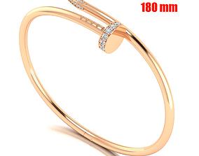 Nail bracelet 180mm 3D printable model