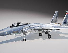3D McDonnell Douglas F-15C Eagle rigged