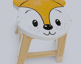 Child Step Stool Fox 3D