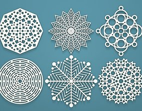 Geometric Snowflakes 3D printable model