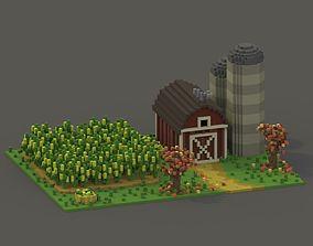 Farm Voxel Scene 3D model