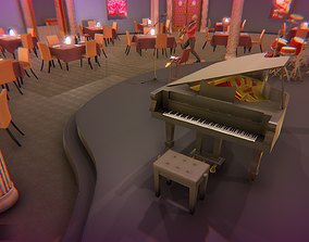 3D model Jazz club - interior and props