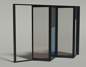3D asset Full Animated Sliding Doors - 4 Panel