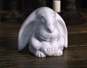 3D print model Rabbit with love heart