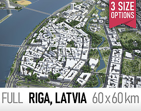 Riga - city and surroundings 3D
