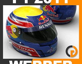 3D Helmet F1 2011 Mark Webber