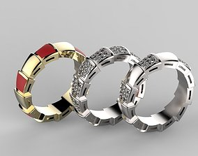 No55 Bvlgari Serpenti band ring 3D printable model