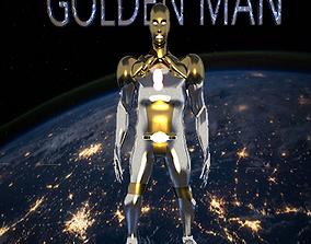 3D model golden iron man