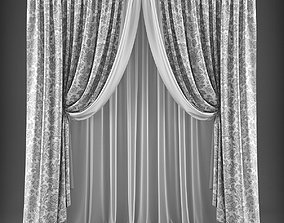 game-ready Curtain 3D model 320