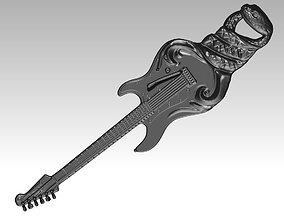 Highdetailed Guitar Snake Cobra Pendant 3D printable model