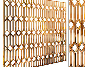 3D model Decorative partition set 63