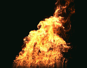 FumeFX Large Scale Fire 3D animated