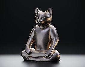 Yoga cat 3D print model