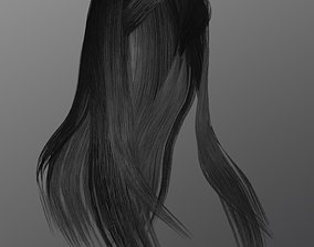 3D asset game-ready Woman hairstyle