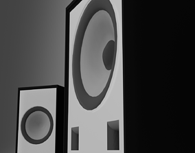 3D asset Sperakers with subwoofer