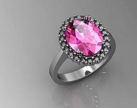 sapphire rosette engagemen 3D print model