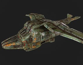 realtime 3d low poly sci fi spaceship