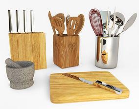 3D model Kitchen utensils set