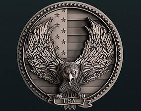 USA Eagle wall decor 3D models for artcam and aspire