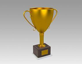 cup 3D model Golden Trophy