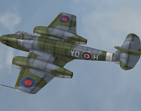 FLY Game-Ready - Gloster Meteor - Airplane 3D