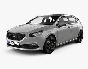 3D model Generic hatchback 5-door 2019