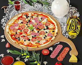 3D PBR pizza