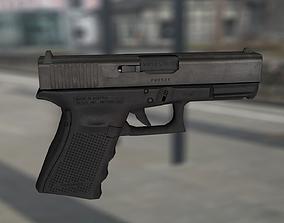 3D model low-poly Glock