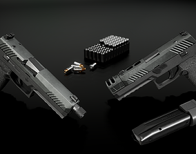 3D model Sig Sauer P320 Full Size Modular 9MM Handgun
