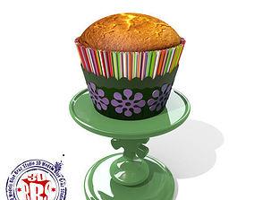 3D model lady bug cupcake