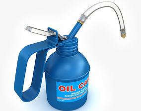 Oil can 3D model tin