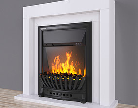 Electric fireplace EFP-S 4020WS white 3D coal