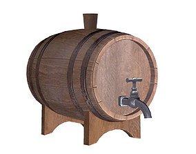 Old Wine Cask 3D model
