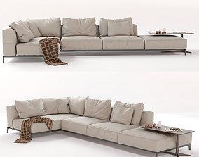 3D Flexform Sectional Sofa Ettore