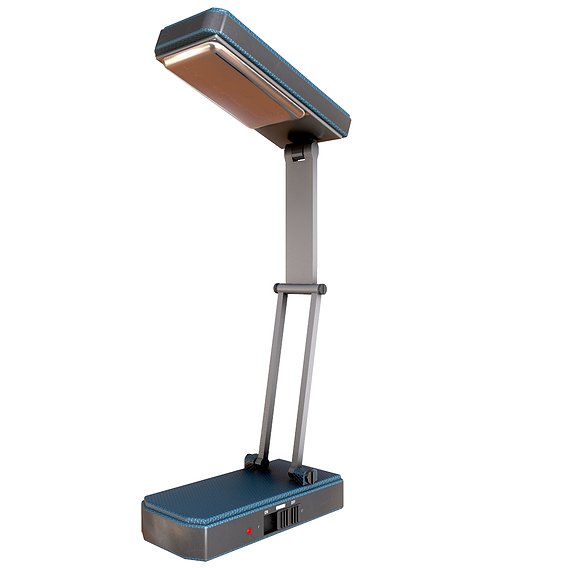 table lamp and battery torch Low-poly 3D model