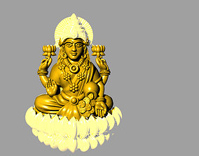 3D printable model hindu laxmi bhagwan with flower