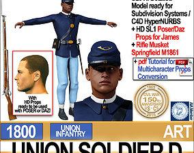 Civil War Union Soldier D African American Infantry wt 3D
