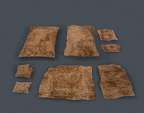 3D asset Burlap Sacks and Pieces