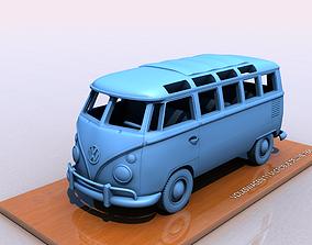3D printable model VOLKSWAGEN MICROBUS DELUXE TYPE 1 -