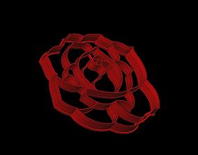 3D model cookie cutter flower rose