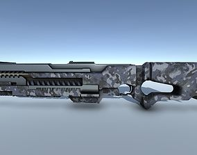 3D model SciFi Rail Gun