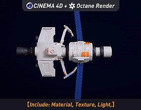 spaceship octane-renderer 3D model